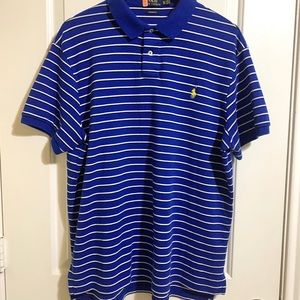 Polo Ralph Lauren Custom Fit Blue Striped Polo XL